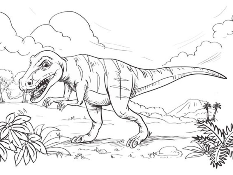 Kids Fun Page Dinosaur Park Tenby